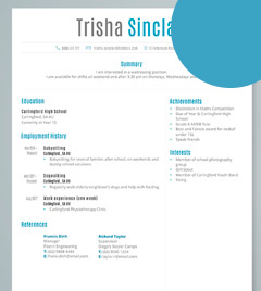 resume example for teenager template medium size resume example ...