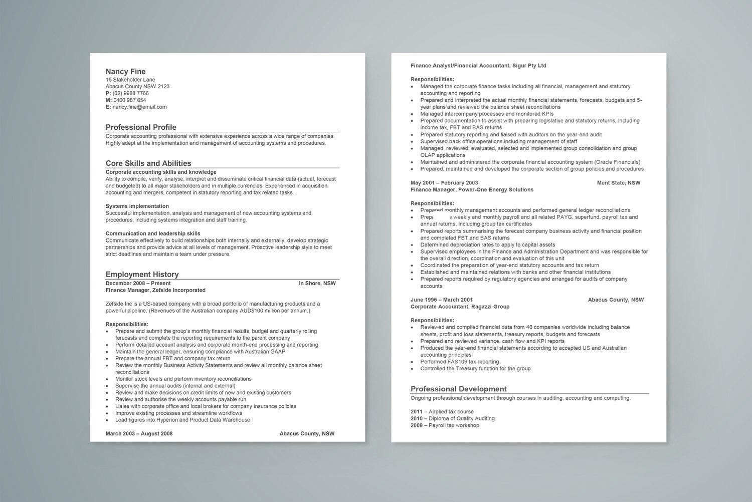 free resume template - Fashion Design Resume Template