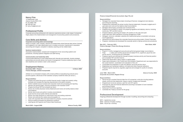 free resume template - System Analyst Sample Resume