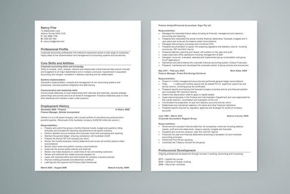 cook sample resume