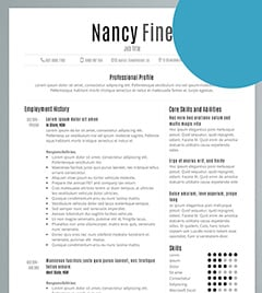 my first resume sample