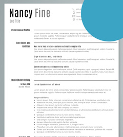 resume template paris resume template - Resume Sample Work Experience