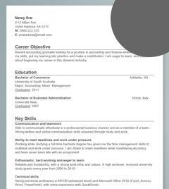 sample resume for a high school student