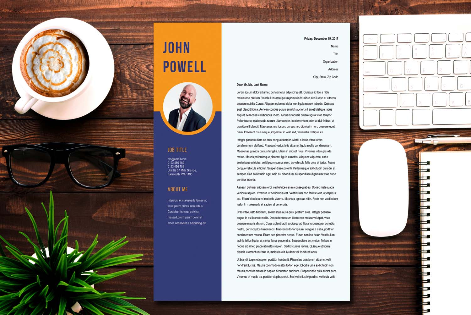 Amsterdam Cover Letter Template