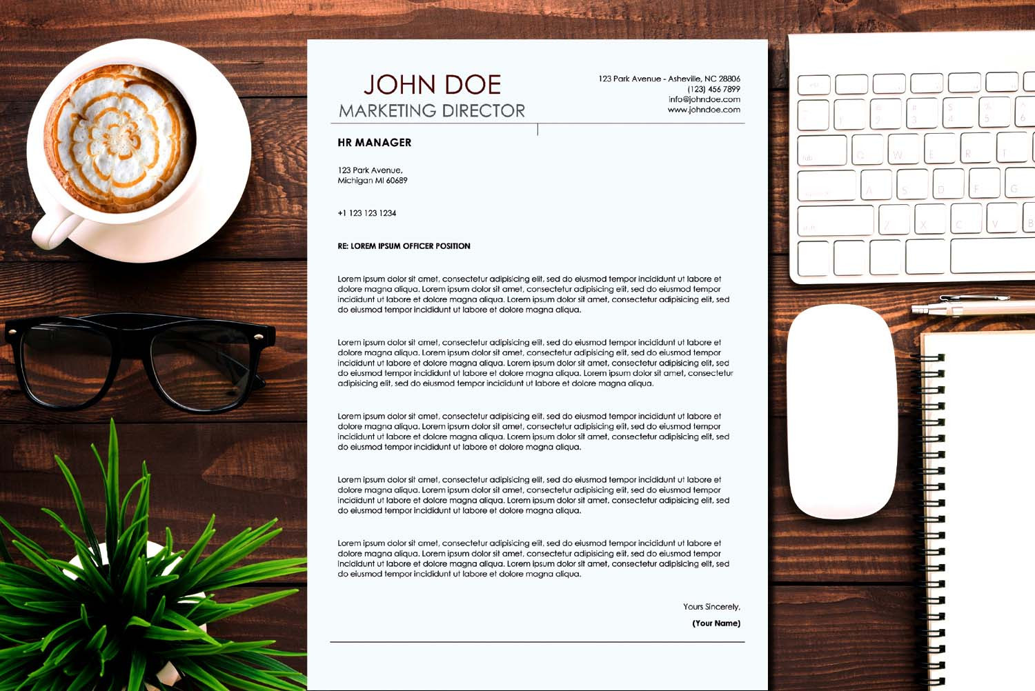 Athens Brown Word Resume Template
