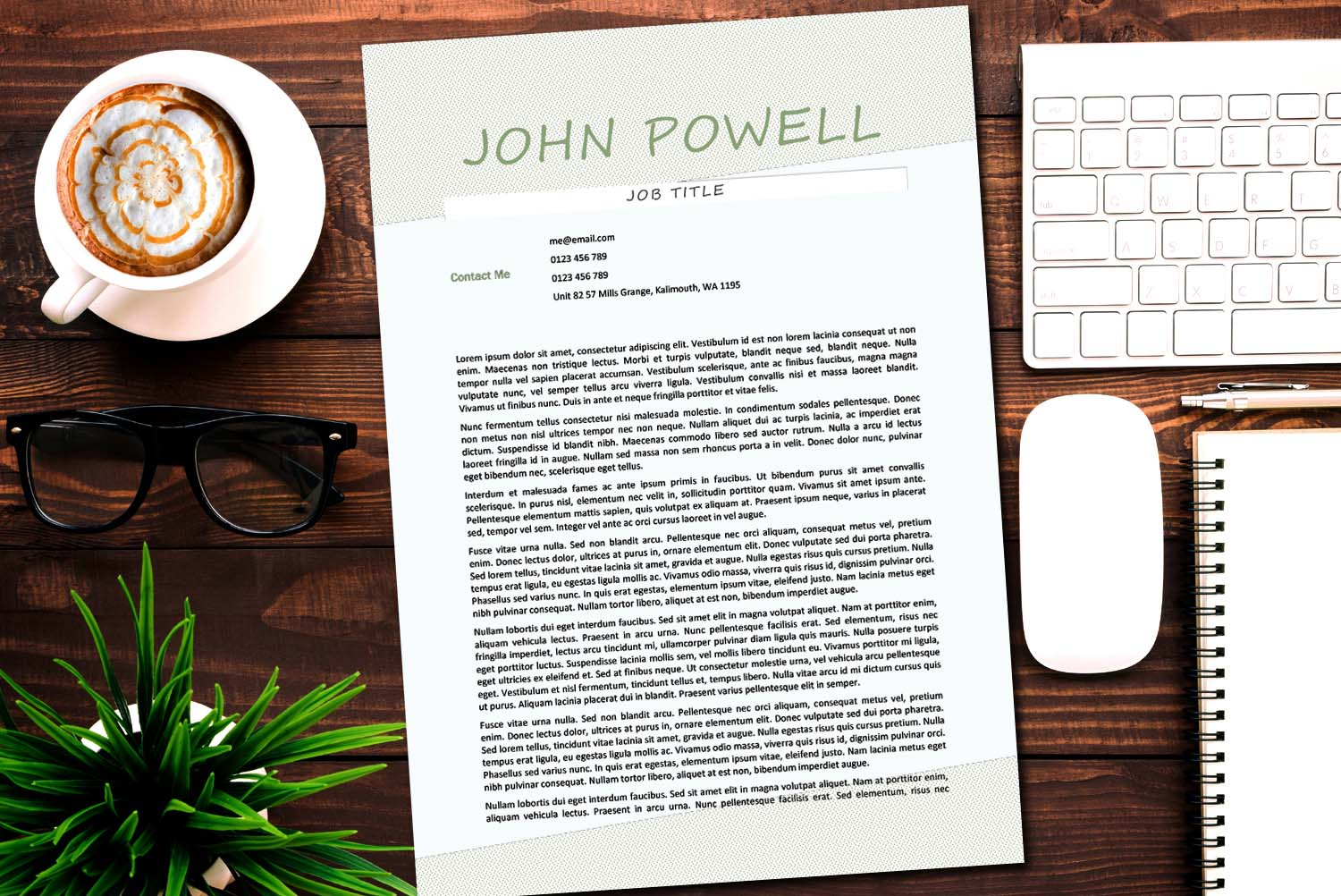 Chicago Green Word Cover Letter Template