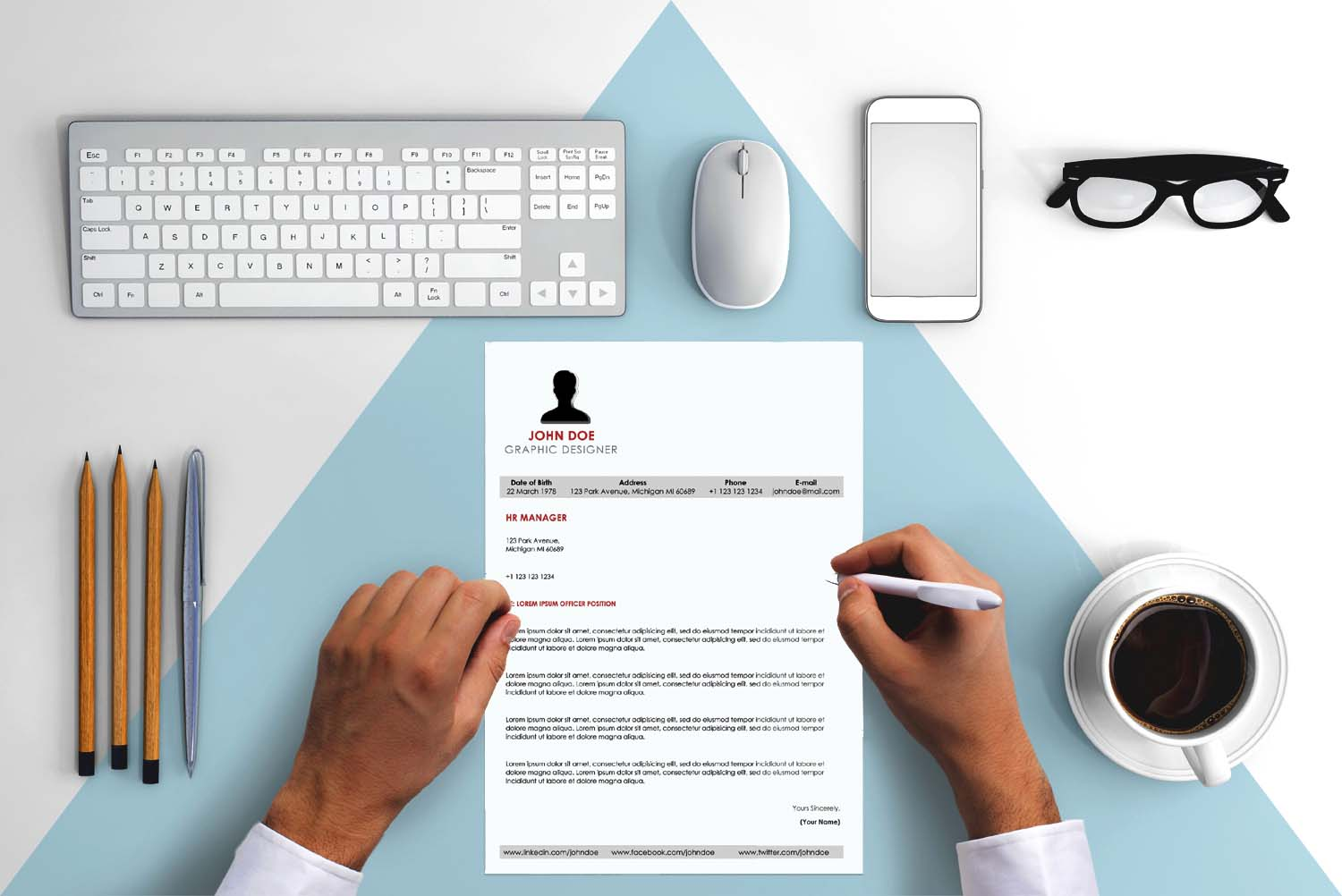 Lisbon Red Word Cover Letter Template
