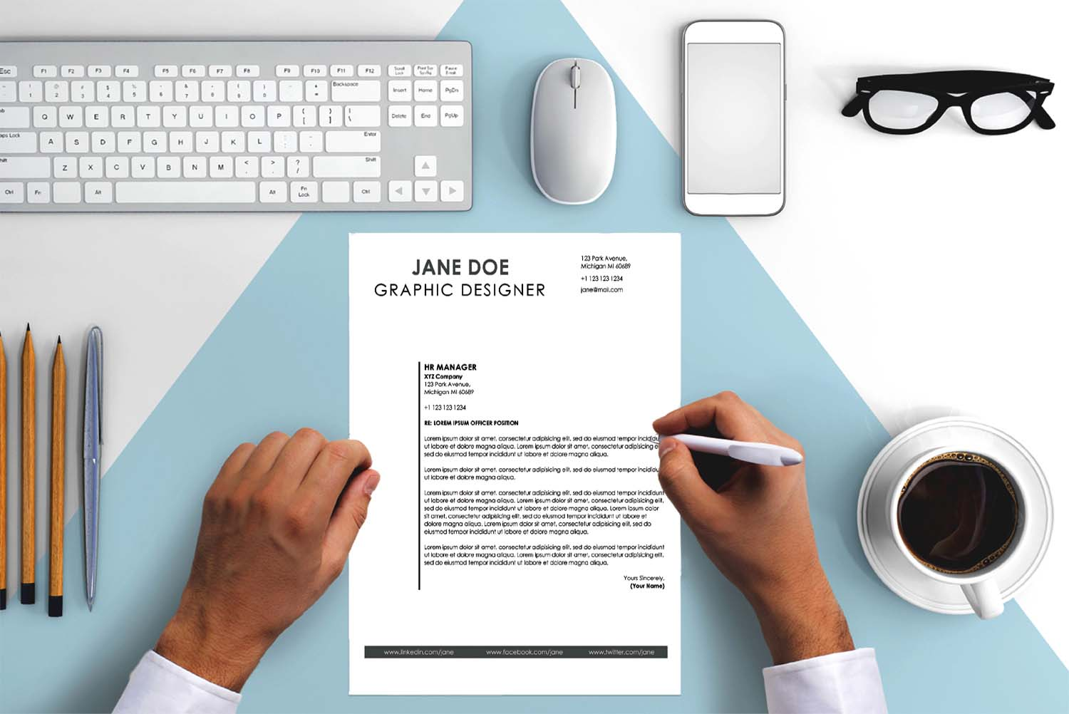 London Black Word Cover Letter Template