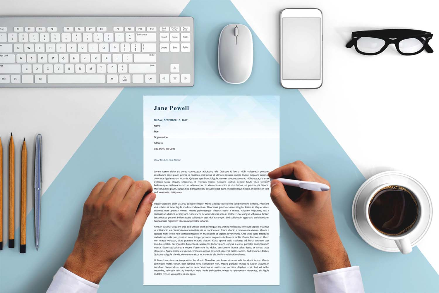 Monaco Blue Word Cover Letter Template