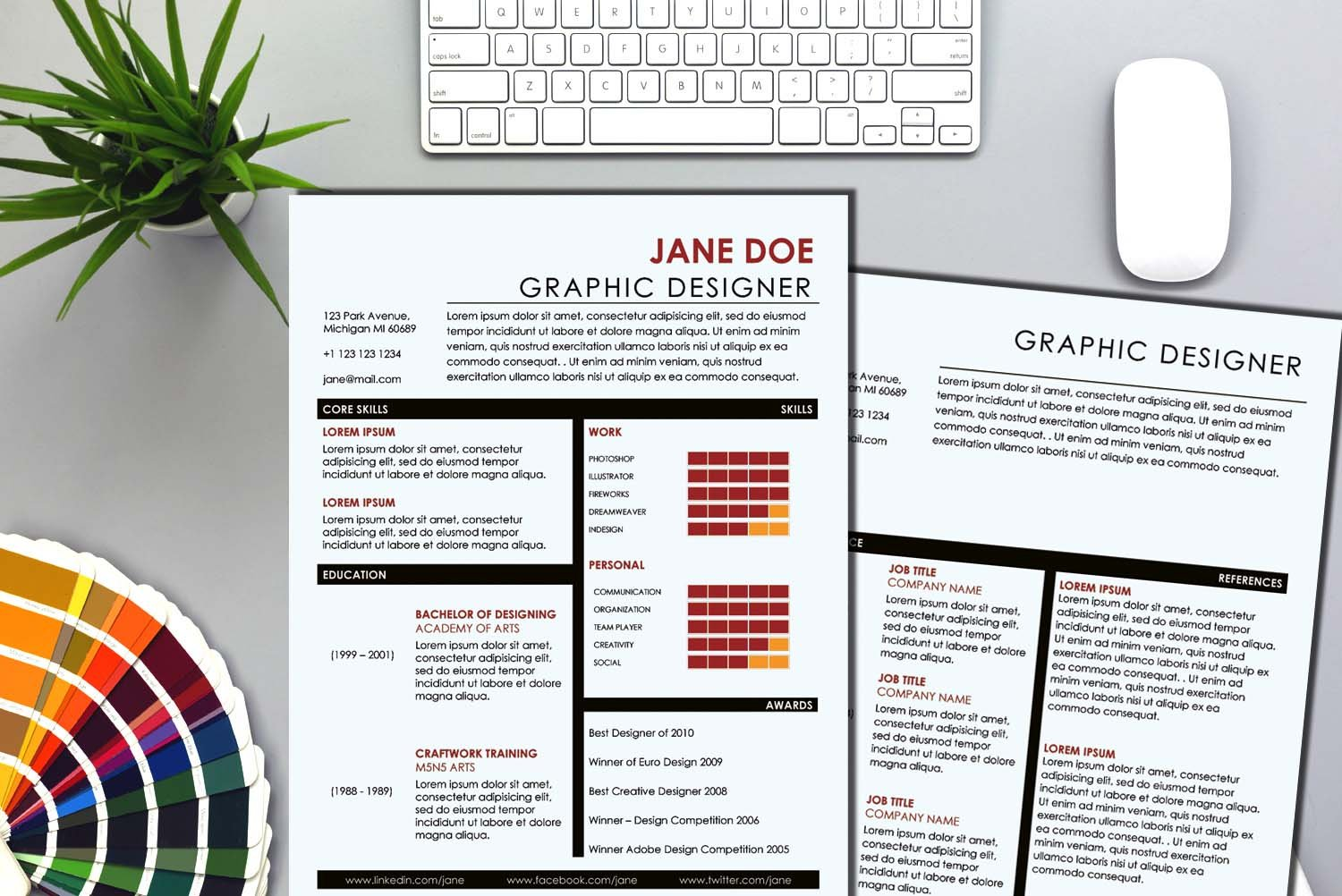 Moscow Brown Word Resume Template