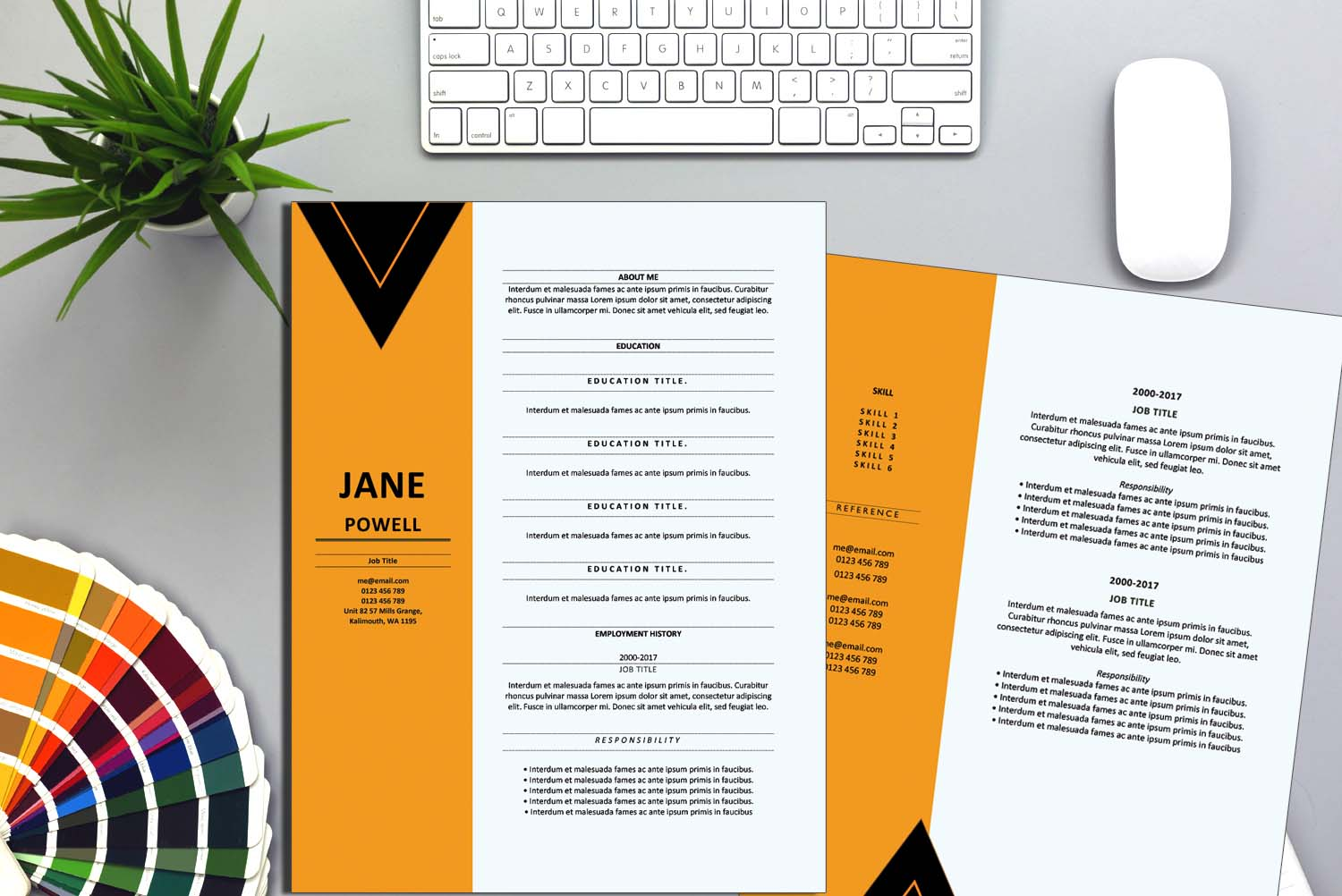 New Delhi Yellow Word Resume Template