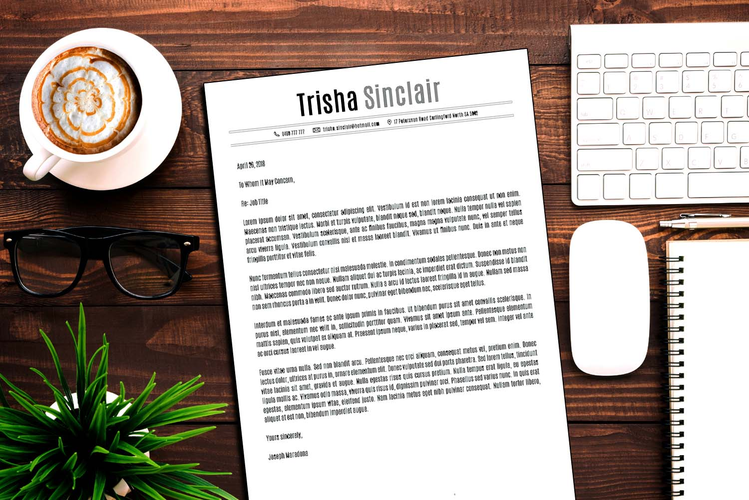 New York Word Cover Letter Template Black