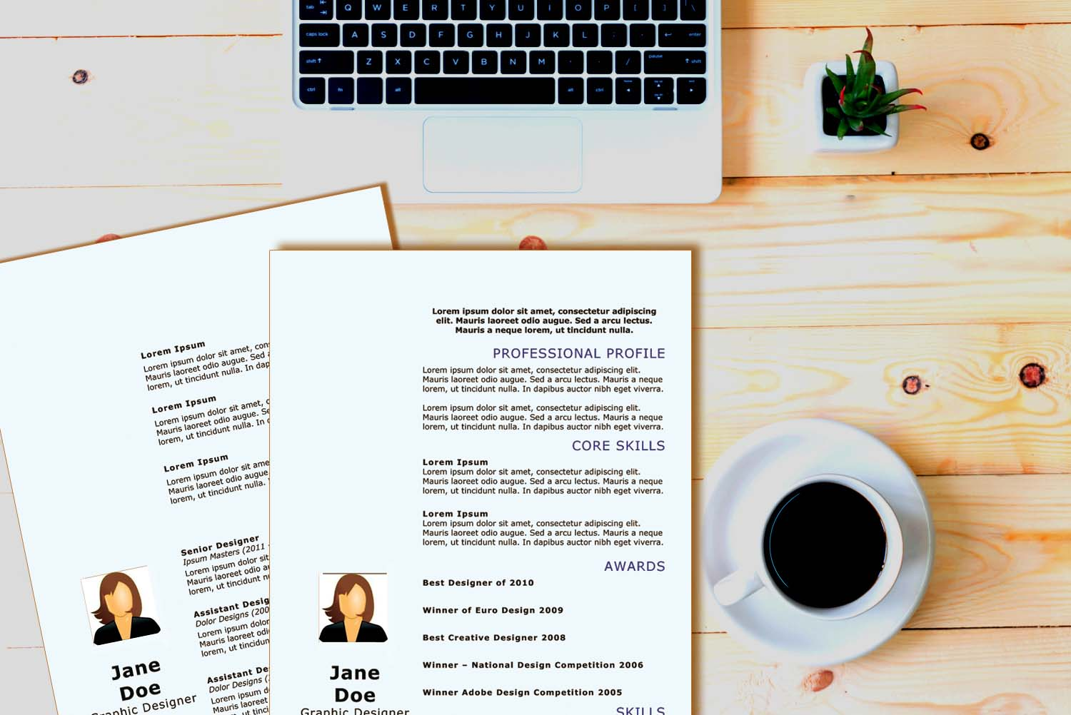 Rome Blue Word Resume Template