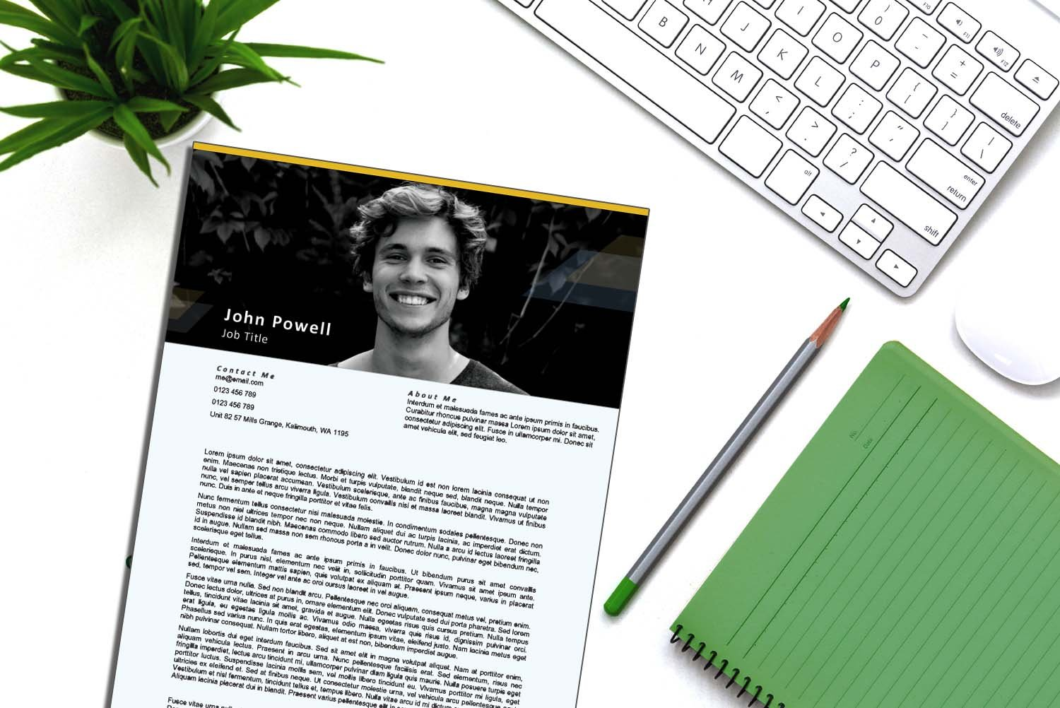 Stockholm Yellow Word Cover Letter Template