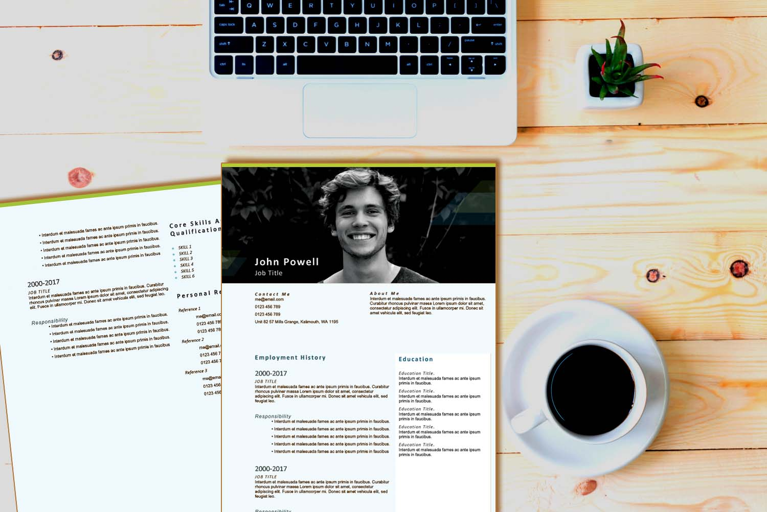 Stockholm Green Word Resume Template