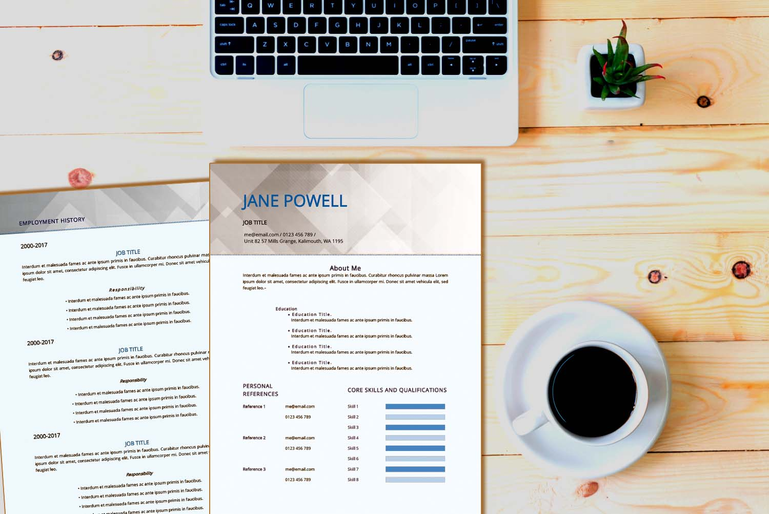 Sydney Blue Word Resume Template