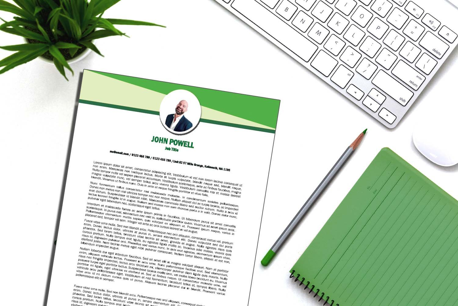 Toronto Green Word Cover Letter Template