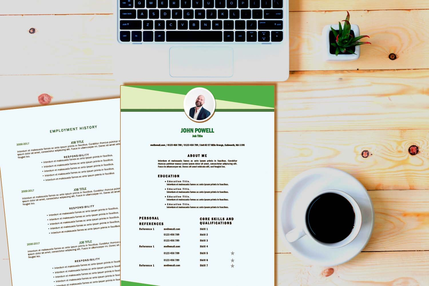 Toronto Green Word Resume Template