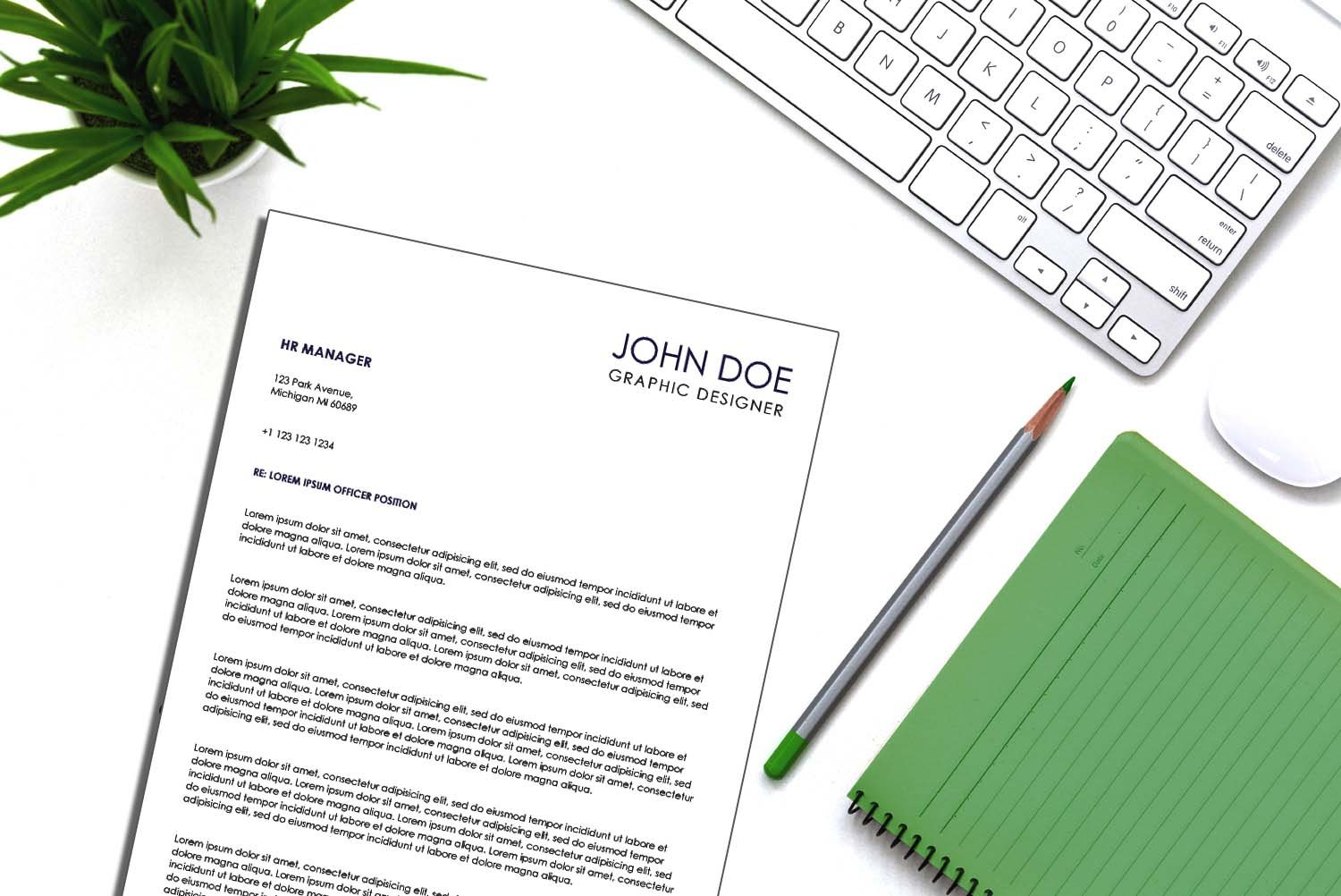 Venice Blue Word Cover Letter Template