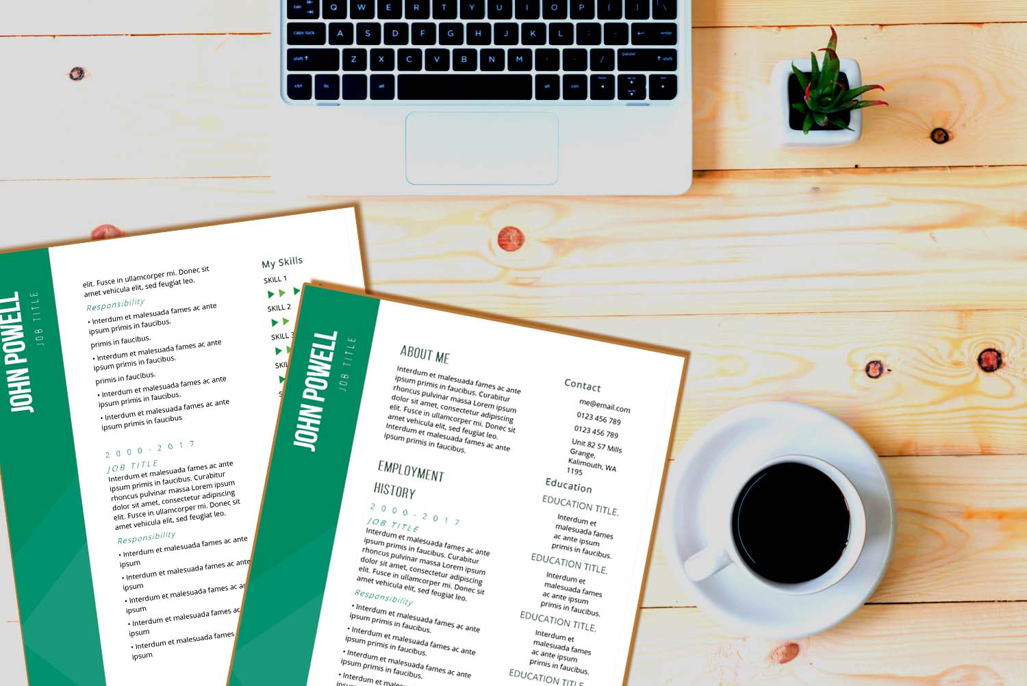 Zurich Green Word Resume Template