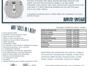 Allied health career fact sheet