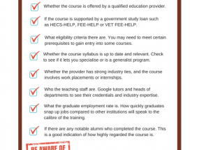 How To Pick The Right Course For You