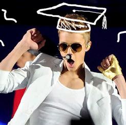 Justin a firm belieber in the value of education